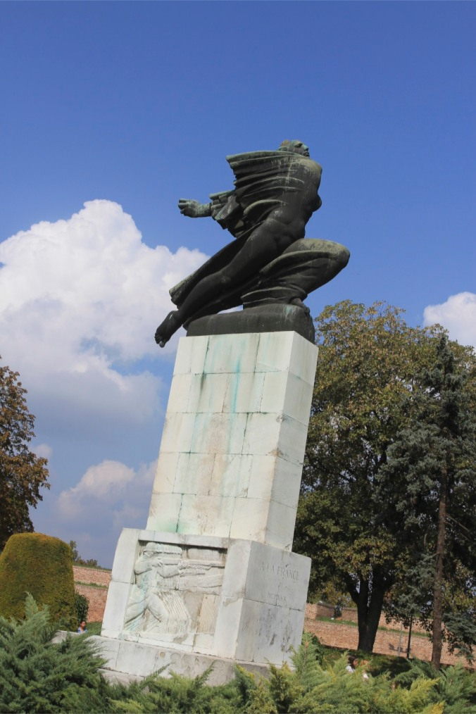 WWI statue to France, Kalemegdan Fortress, Belgrade, Serbia