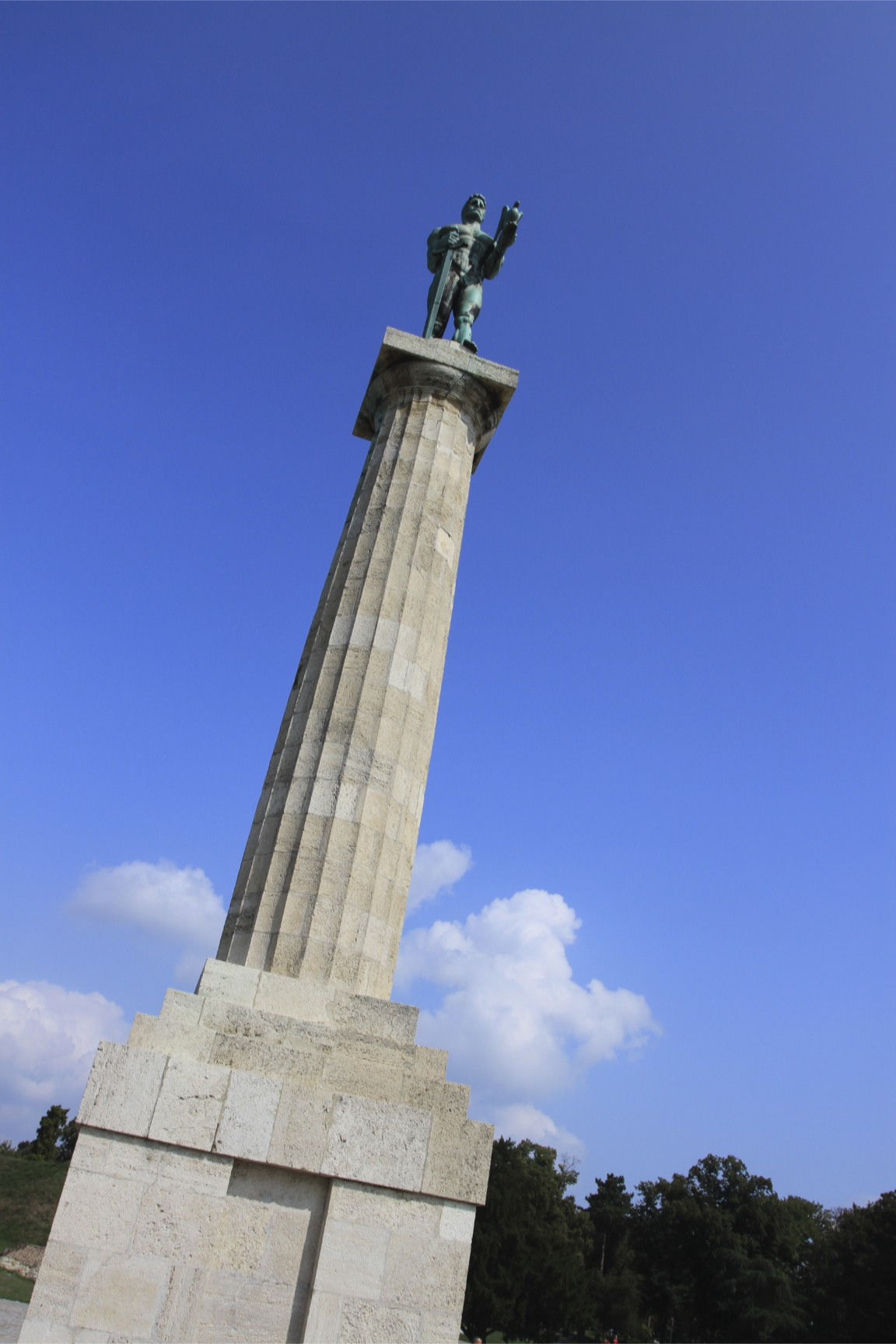 Statue In Kalemegdan Fortress Belgrade Serbia