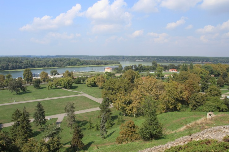 The confluence of the Danube and Sava rivers, Kalemegdan Fortress, Belgrade, Serbia
