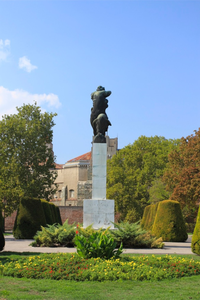 WWI statue to France, Kalemegdan Fortress, Belgrade, Serbia
