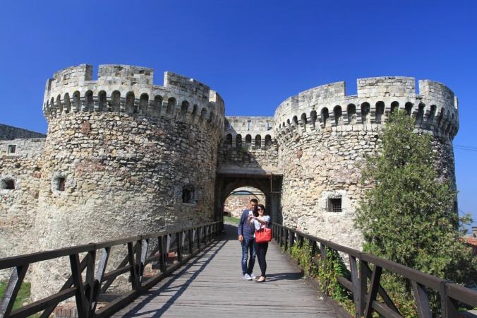 Selfie in front of the Kalemegdan Fortress, Belgrade, Serbia