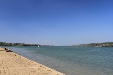 The Danube in Belgrade, Serbia