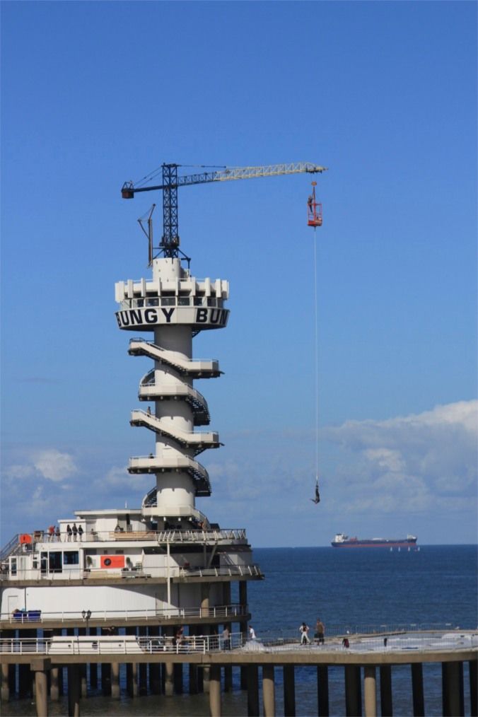 Scheveningen Pier with bungy jump, The Hague, Netherlands