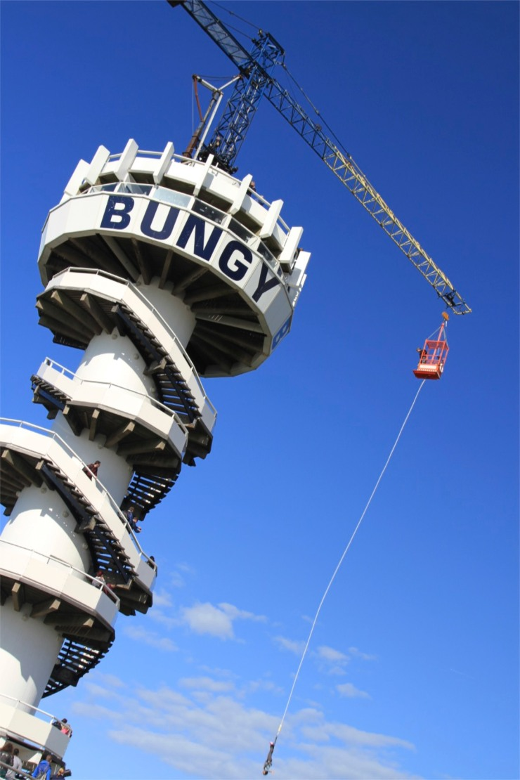 Scheveningen Pier with bungy jump, The Hague, Netherlands