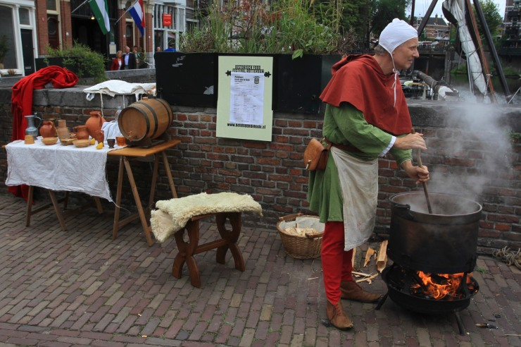Traditional Dutch culture at Ketels aan de Kade, Delftshaven, Netherlands