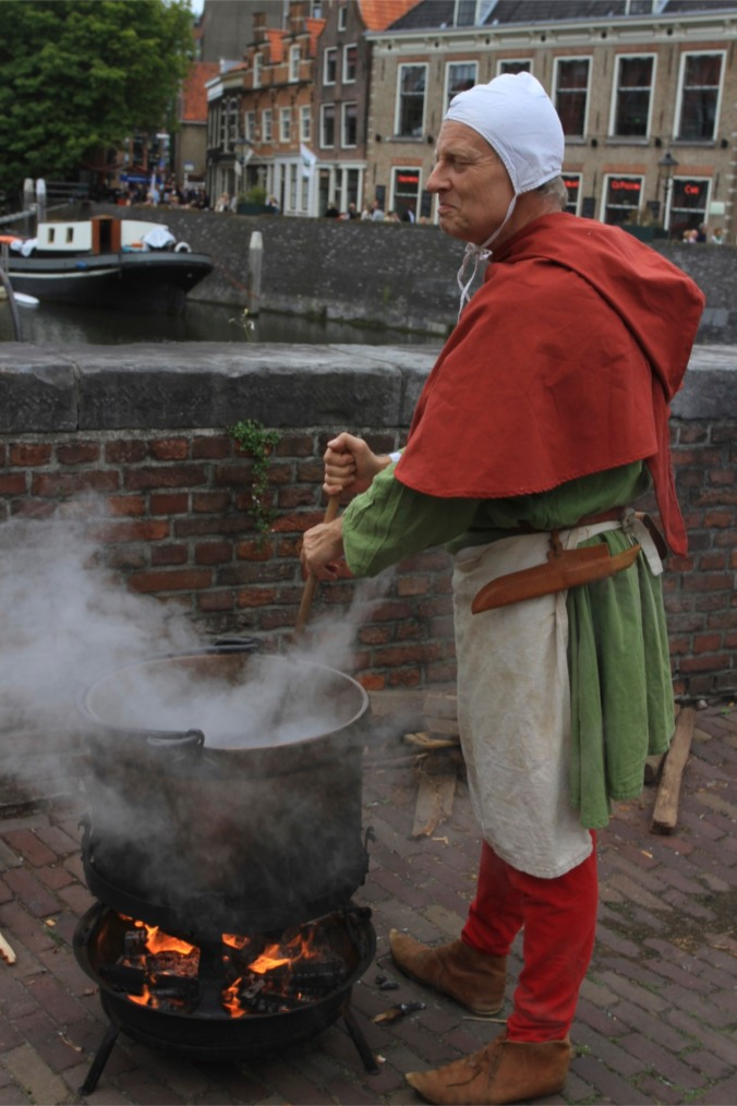 Traditional Dutch culture at Ketels aan de Kade, Delfshaven, Netherlands