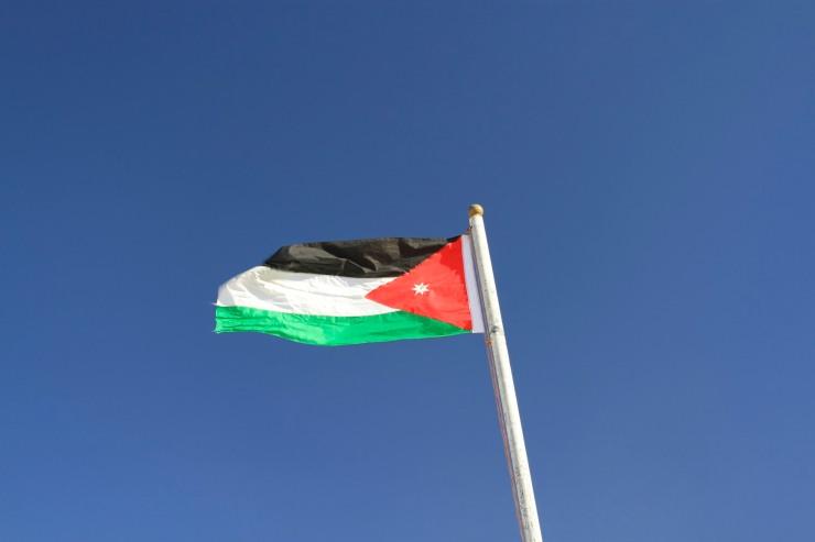 The Jordanian flag, Shobak Castle, Jordan