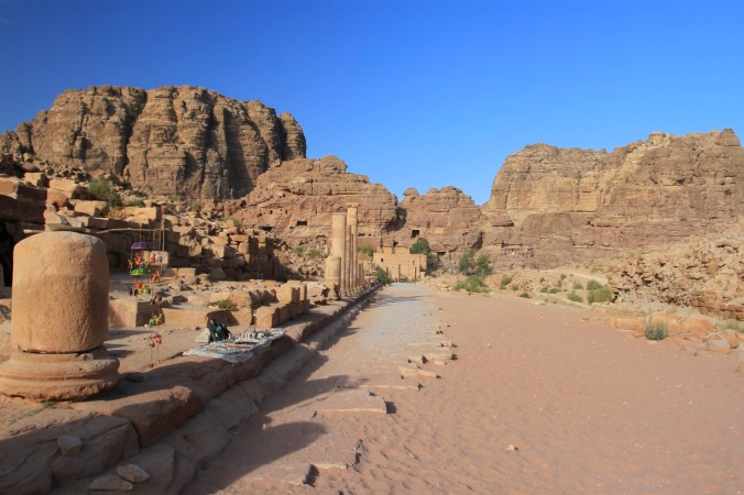 Colonnaded Roman road, Petra, Jordan