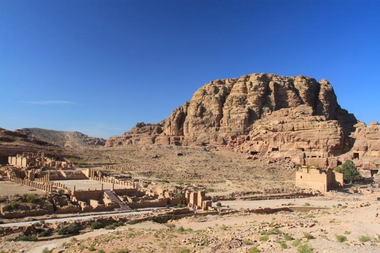 View over Petra city centre, Petra, Jordan