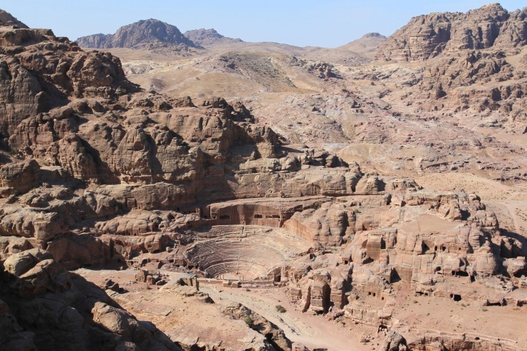 View over Petra, Jordan