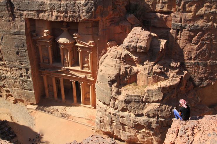The view over the Treasury, Petra, Jordan