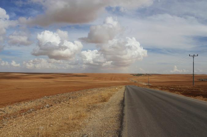 On the way to Umm er-Rasas, Jordan