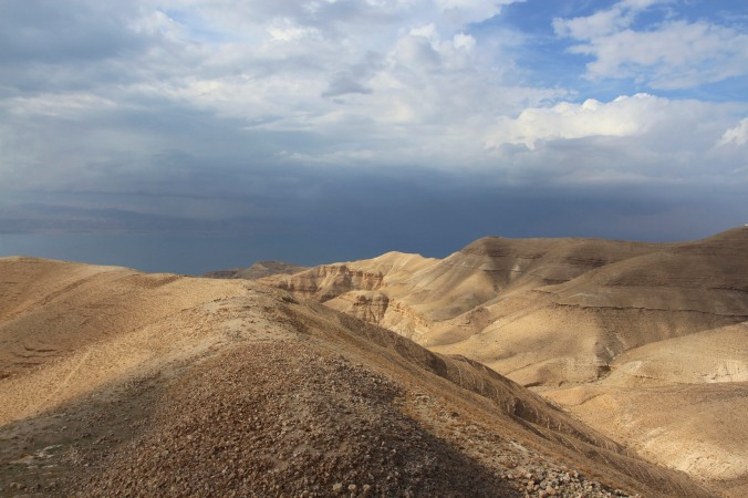 Views over the Dead Sea, Mukawir, Jordan