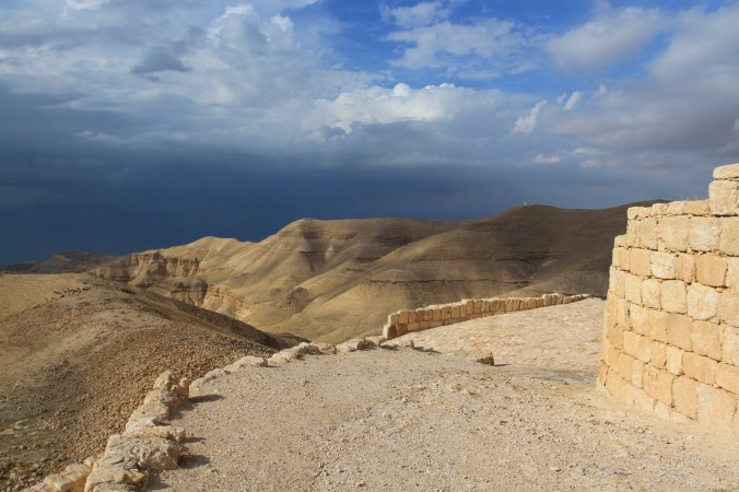 Storm over the Dead Sea, Mukawir, Jordan