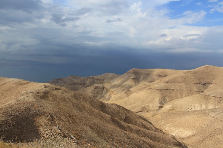 Storm over the Dead Sea, Mukawir, Jordan