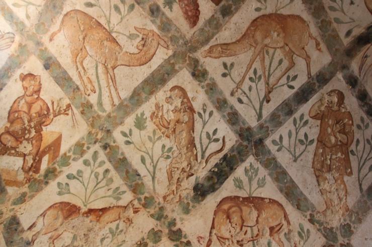 Frescos, Qasr Amra, Jordan