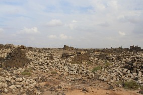 The basalt city of Umm al-Jimal, Jordan