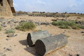 The basalt city of Umm al-Jimal, Jordan