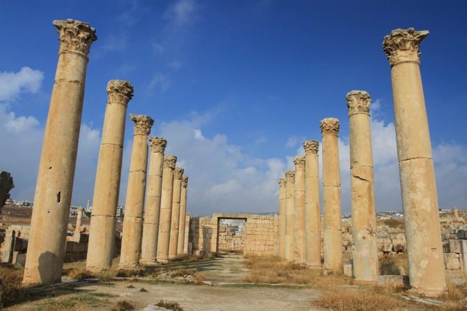 Colonnaded street, Jerash, Jordan
