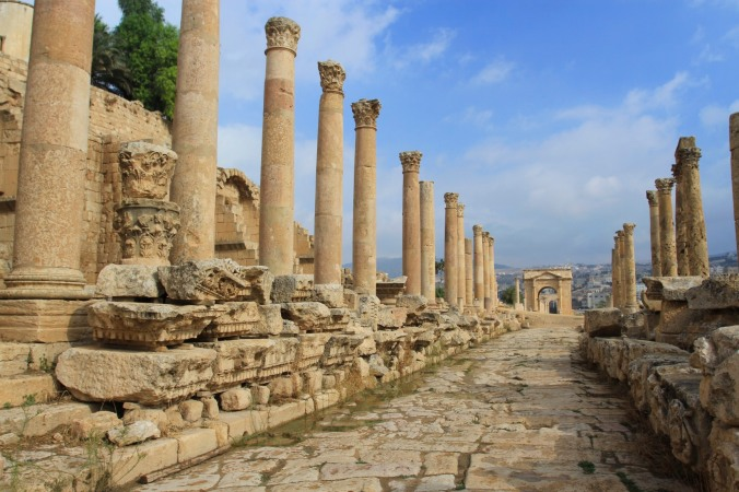 Cardo Maximus and Northern Gate, Jerash, Jordan