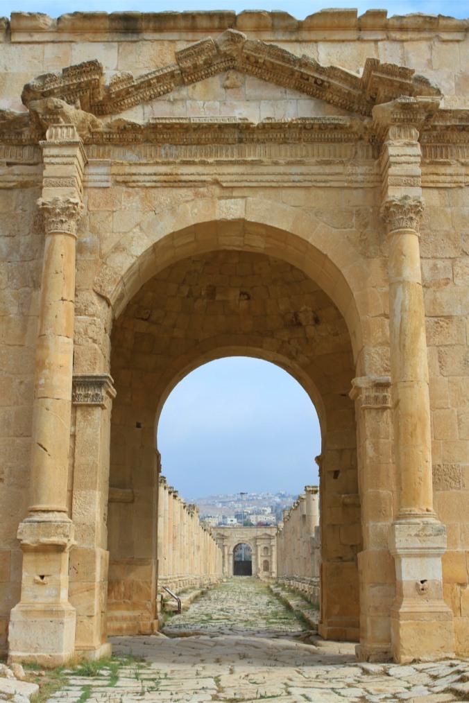 Cardo Maximus and Northern Gate, Jerash, Jordan
