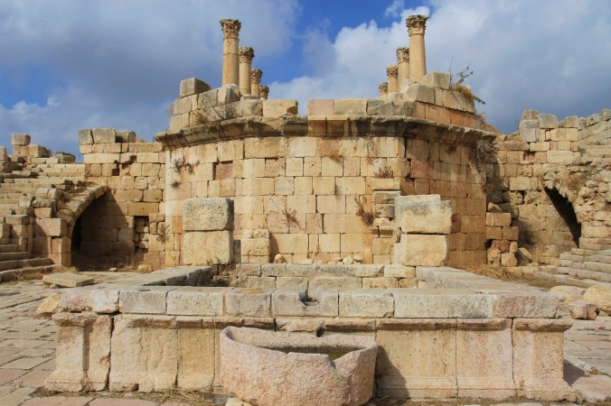 Courtyard of Fountains, Jerash, Jordan