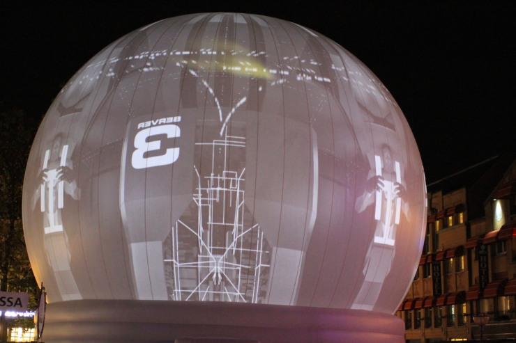 Big light globe, GLOW Festival, Eindhoven