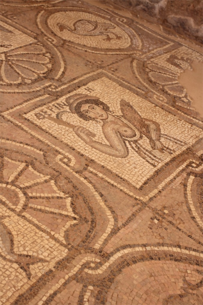 Mosaics from Byzantine church, Petra, Jordan