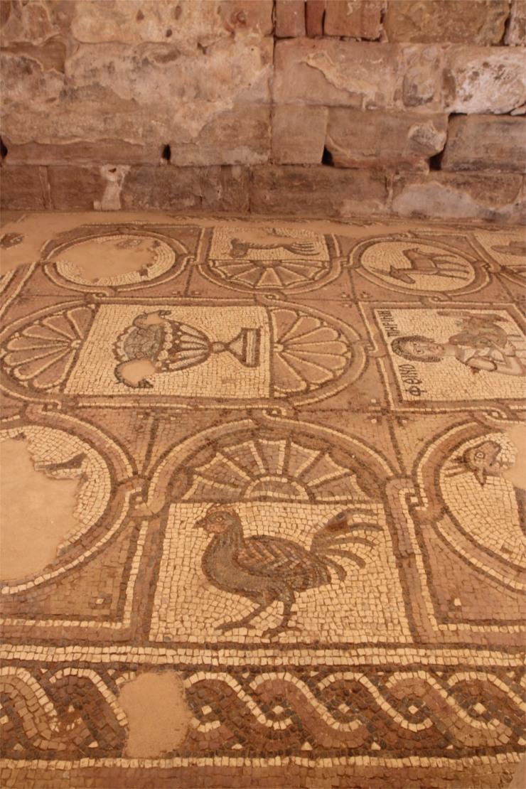 Mosaics from Byzantine church, Petra, Jordan