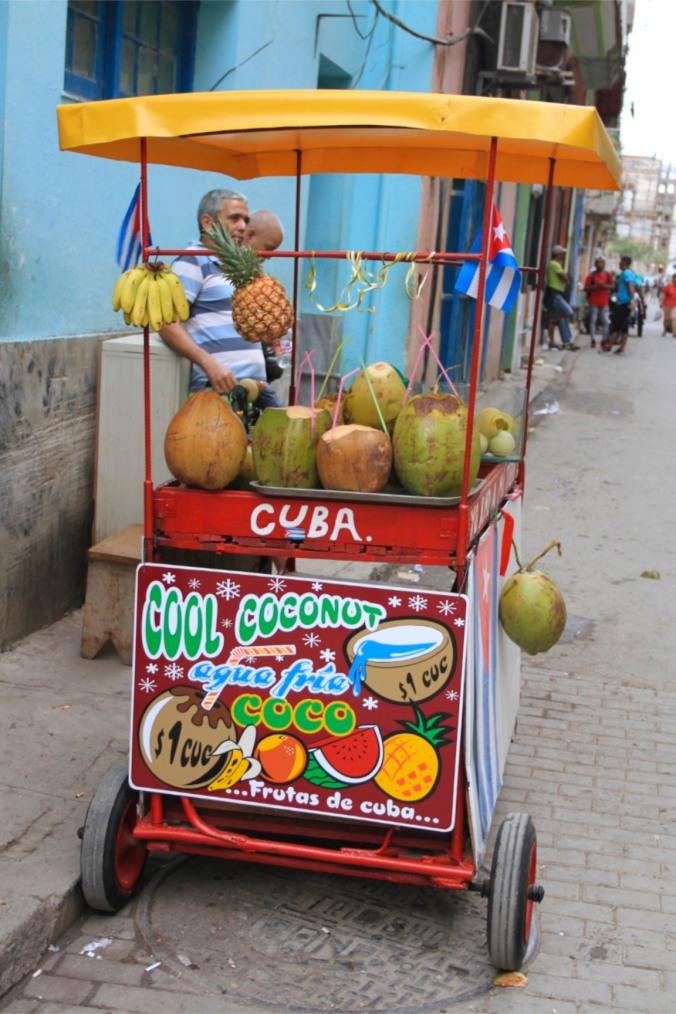 Coconut stall, Havana Vieja, Cuba