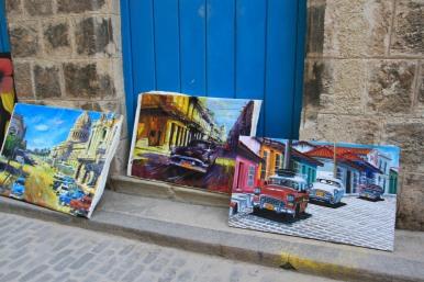 Paintings, Havana Vieja, Cuba