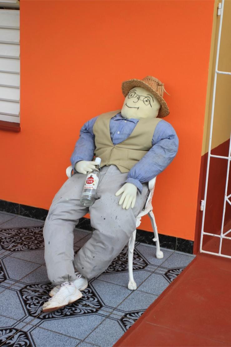 New Year mannequin, Viñales, Cuba