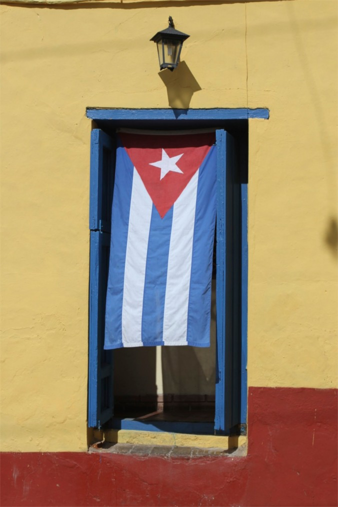 Cuban flag, Trinidad, Cuba