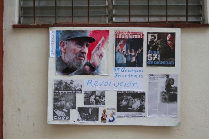 Revolutionary poster, Havana Vieja, Cuba