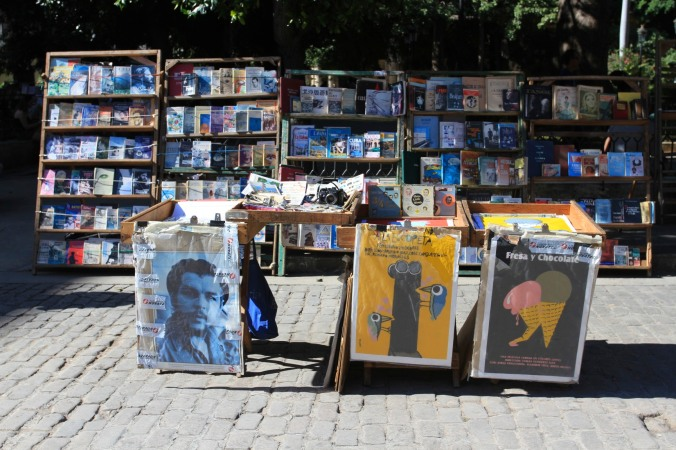 Book sellers, Plaza de Armas, Havana Vieja, Cuba
