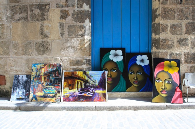Paintings, Havana Vieja, Cuba