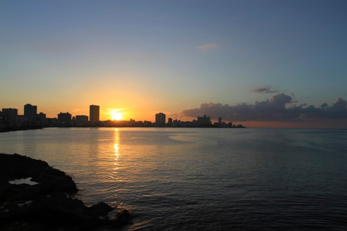 Malecon at sunset, Havana, Cuba