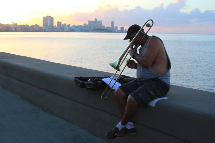 Malecon at sunset, Havana, Cuba