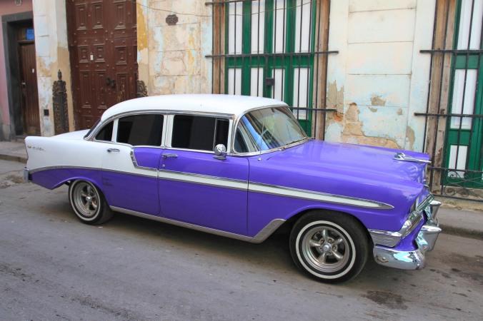 1950s car, Havana Vieja, Cuba
