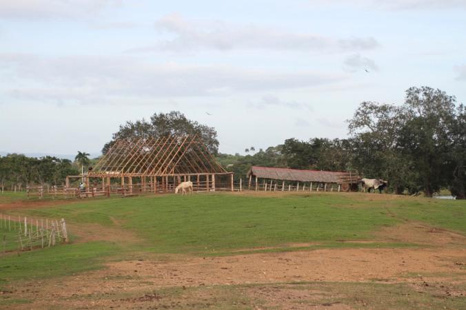 Barn building, Finca la Guabina, Cuba
