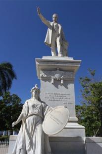 Statues, Plaza de Armas, Cienfuegos, Cuba
