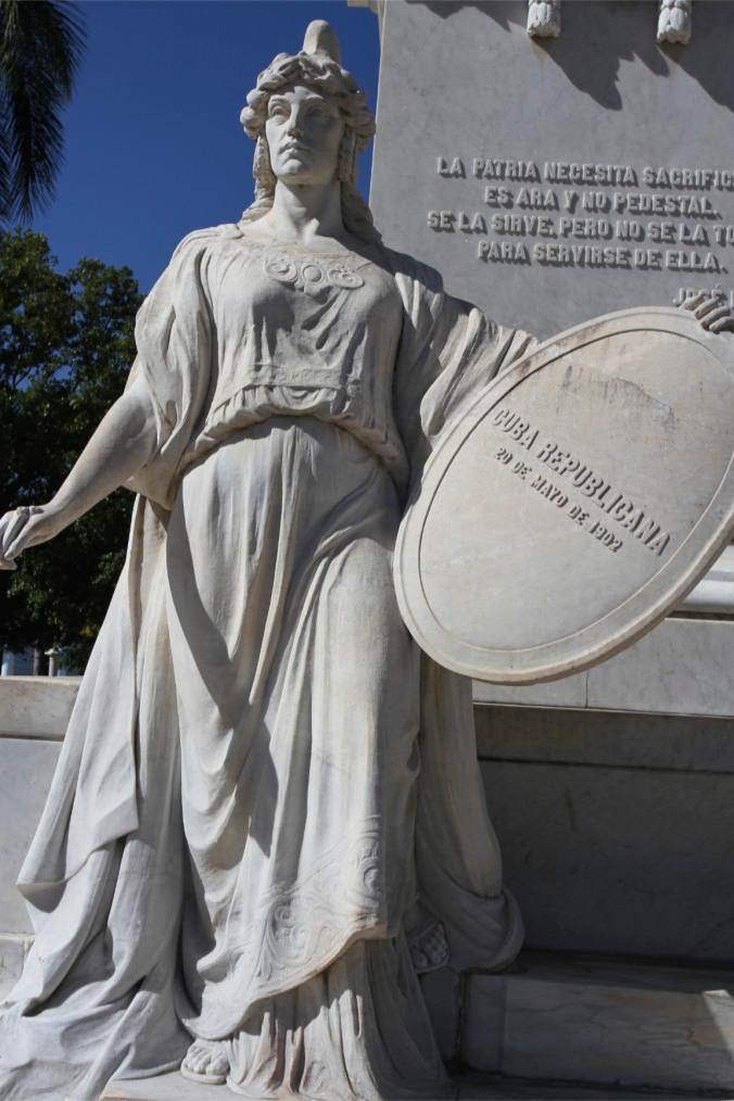 Statues, Plaza Jose Marti, Cienfuegos, Cuba