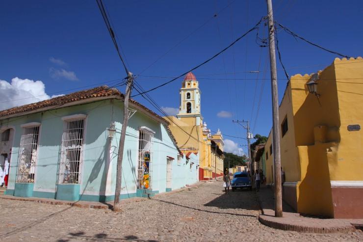 The cobbled streets of Trinidad, Cuba
