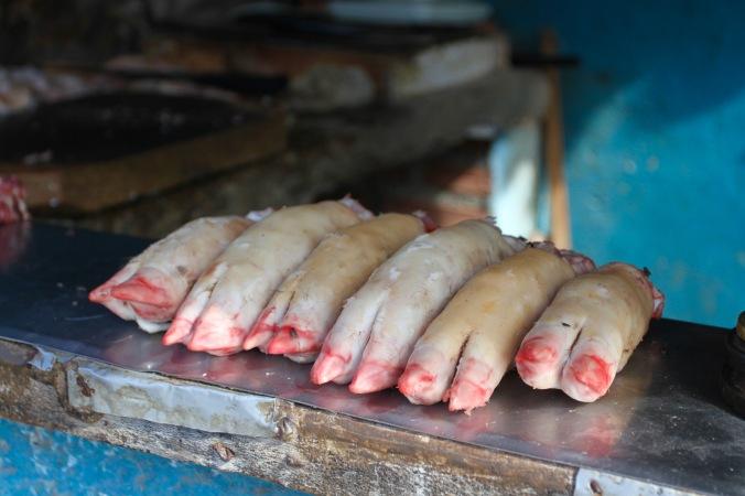 Pig feet, Trinidad, Cuba