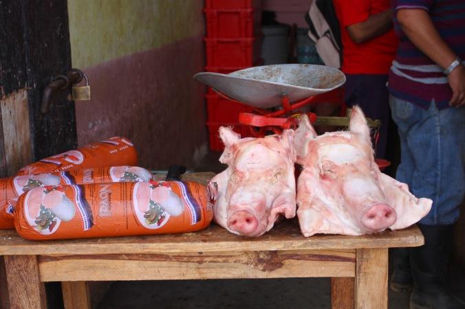 Pig heads, Trinidad, Cuba