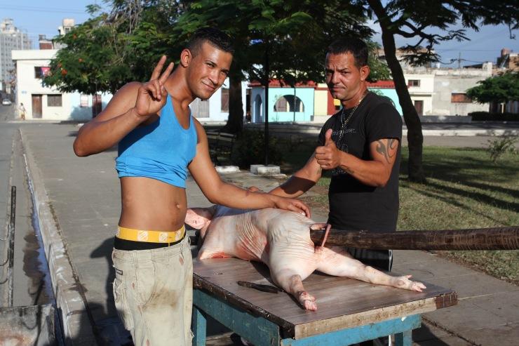 Pig roast, Camaguey, Cuba