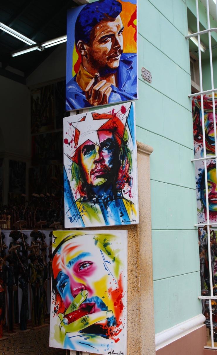 Painting of Che Guevara, Cuba