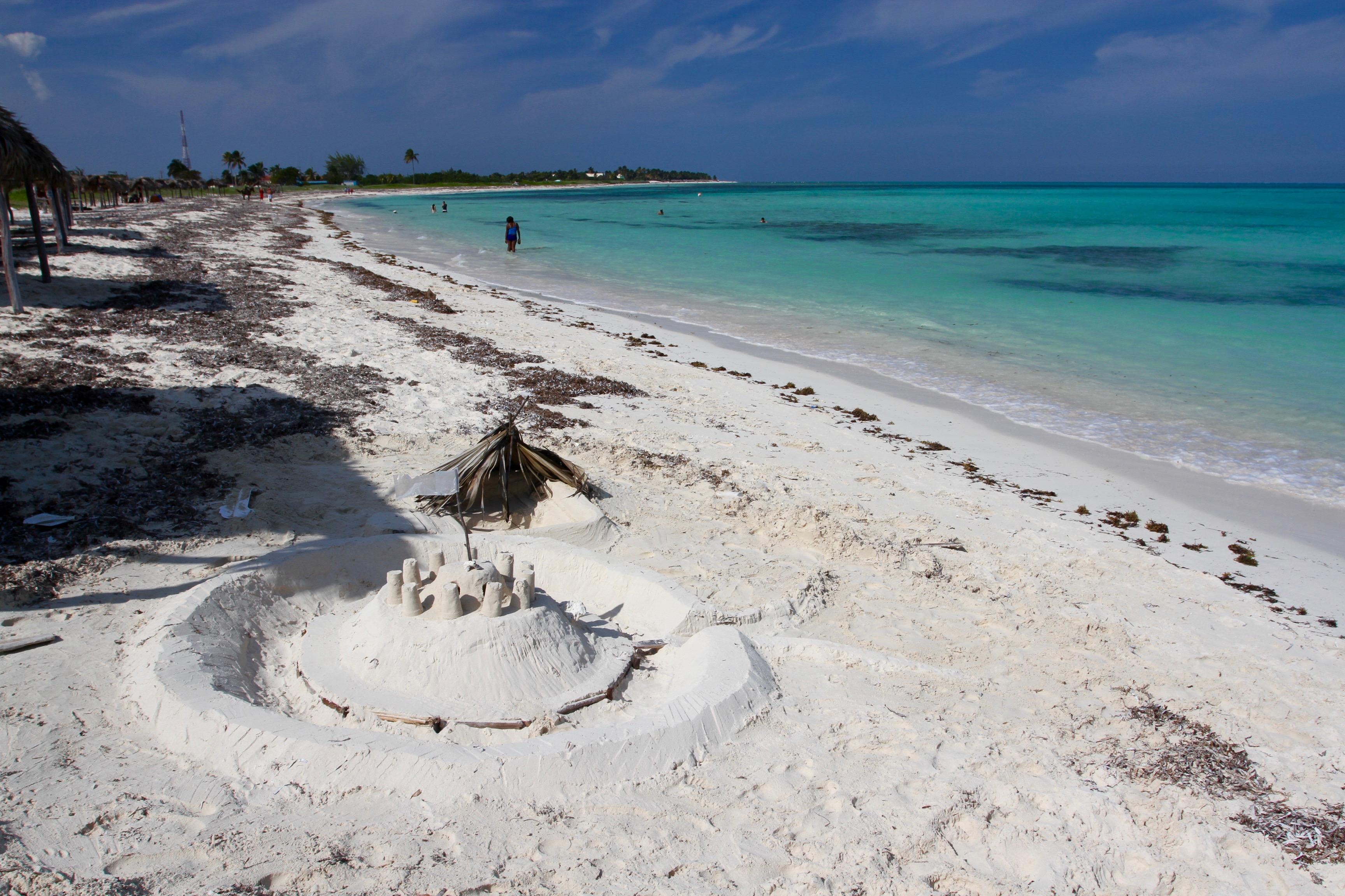 Playa Santa Lucía en Cuba.