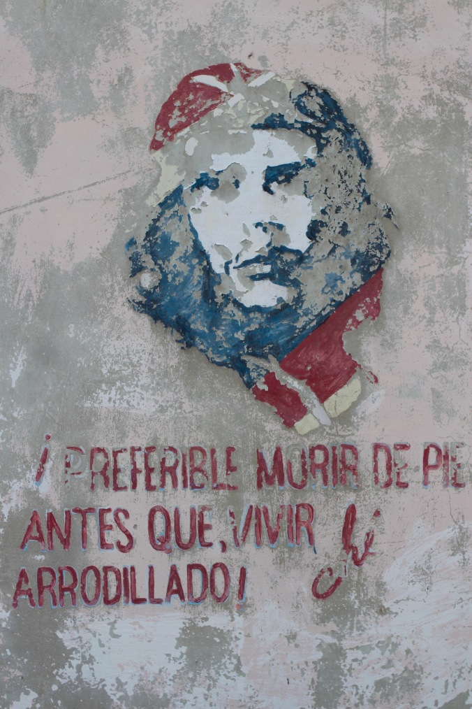 Wall painting of Che Guevara, Cuba