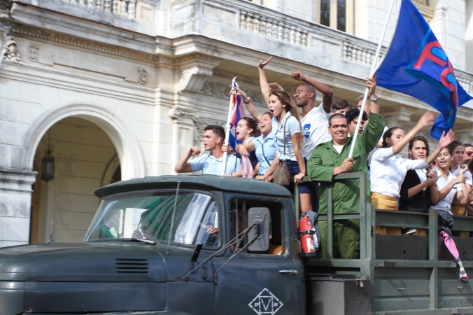 Celebrating the Revolution in Santa Clara, Cuba